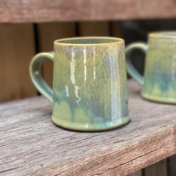 Stick in the Muds Pottery Green on Green Mugs