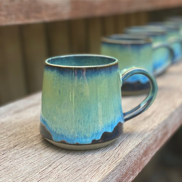 Stick in the Muds Pottery Blue Green Mugs