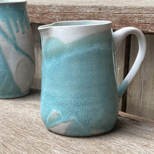 Stick in the Muds Pottery Turquoise & White Stoneware